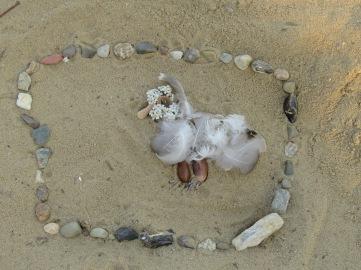 LandArt am Strand